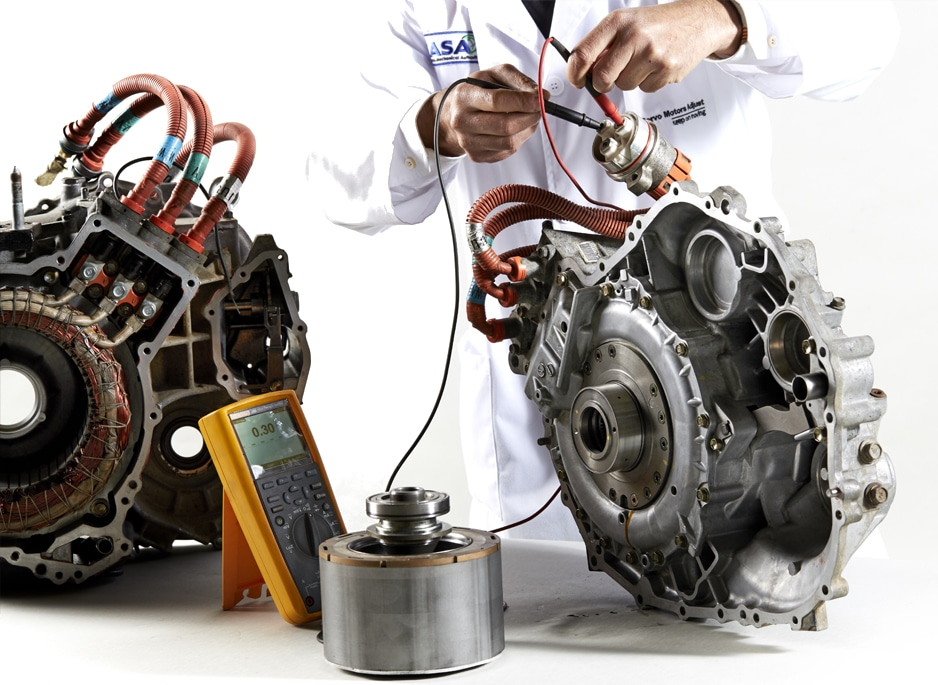 Repair and maintenance of electric and hybrid vehicles